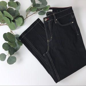 Tommy Hilfiger black cropped jeans slit size 6